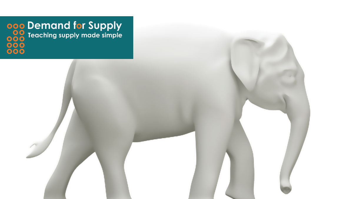 Image of a white elephant meant to represent Edutech initiatives